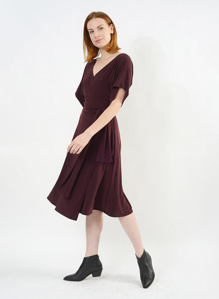Dolman Sleeve Wrap Dress - Porto