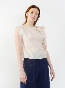 Neck Tie Shirt - Peach