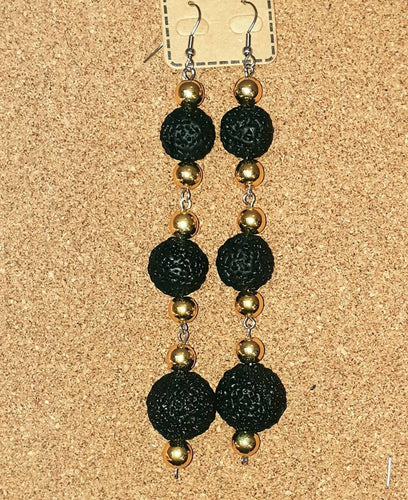 BLACK QUANDONG EARRINGS - Outback Creative Gifts
