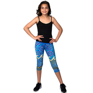 Grounded In Water Womens 3/4 Leggings - Outback Creative Gifts