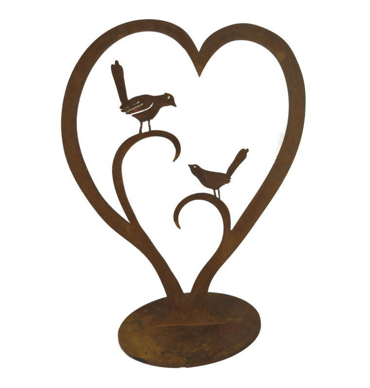 Love Birds Stand Garden Art - Outback Creative Gifts