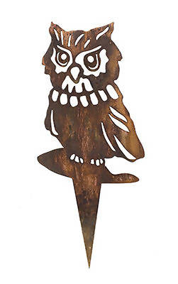 Owl Wedge Stake Garden Art - Outback Creative Gifts