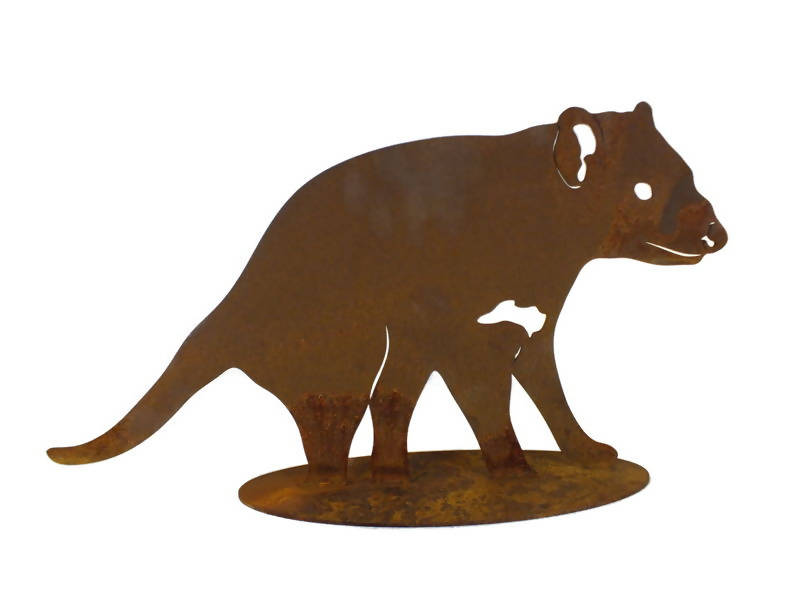 Tasmanian Devil Stand Medium Garden Art - Outback Creative Gifts