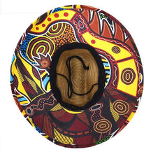 Load image into Gallery viewer, Crocodile Dreaming Adult Straw Hat - Outback Creative Gifts