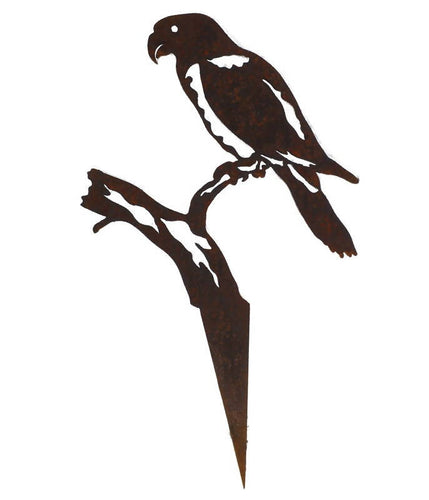 Rosella Wedge Stake Garden Art - Outback Creative Gifts