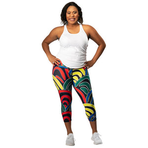 'Mound Springs' Womens 3/4 Length Leggings - Outback Creative Gifts