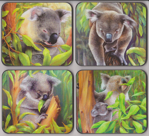 Set of 4 Coasters - Koalas - Outback Creative Gifts