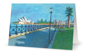 Sydney Opera House 4 pack of Greeting cards - Outback Creative Gifts