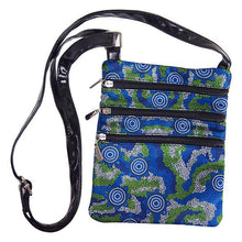 Load image into Gallery viewer, Sacred Country Blue Shoulder Bag - Outback Creative Gifts