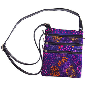 Purple Desert Flower Shoulder Bag - Outback Creative Gifts