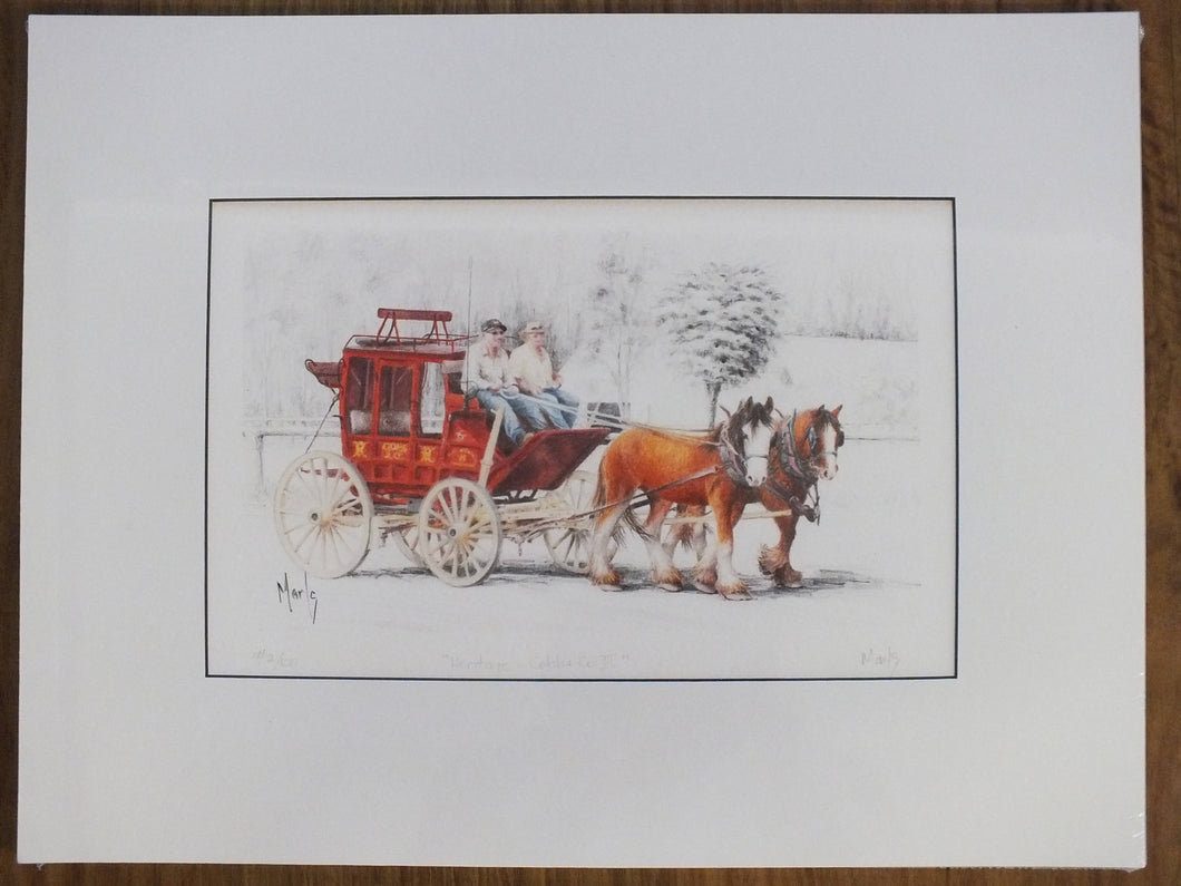 Matted Print - 'Heritage - Cobb & Co. III' - Outback Creative Gifts