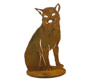 Sitting Dingo Stand Medium Garden Art - Outback Creative Gifts