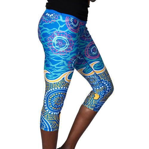 'Grounded In Water' Womens 3/4 Length Leggings - Outback Creative Gifts