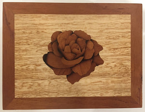 Rose Marquetry Keepsake Box - Outback Creative Gifts