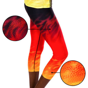 Fire Spirit Womens 3/4 Leggings - Outback Creative Gifts