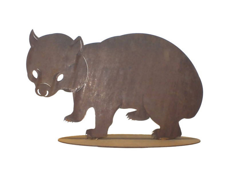 Wombat Large Stand Garden Art - Outback Creative Gifts