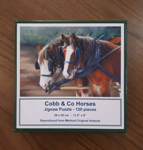 Cobb & Co Horses Jigsaw Puzzle - Outback Creative Gifts