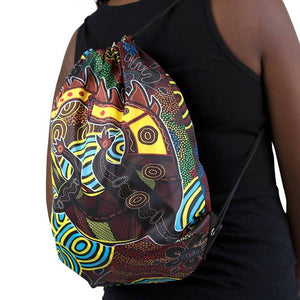 Crocodile Dreaming Drawstring Bag - Outback Creative Gifts
