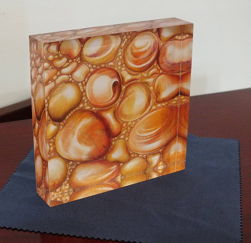 Crystal Block - 'Autumn Drops' - Outback Creative Gifts