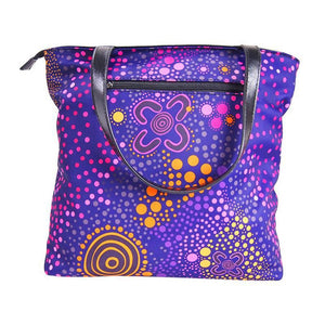 Purple Desert Flower Handbag - Outback Creative Gifts