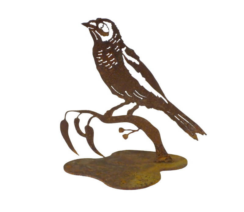 Noisy Minor Bird Stand Garden Art - Outback Creative Gifts
