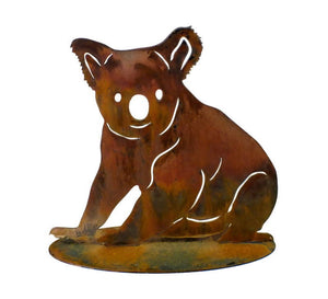 Koala Sitting Stand Medium Garden Art - Outback Creative Gifts