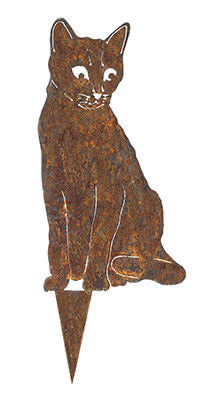 Cat Wedge Stake Garden Art - Outback Creative Gifts