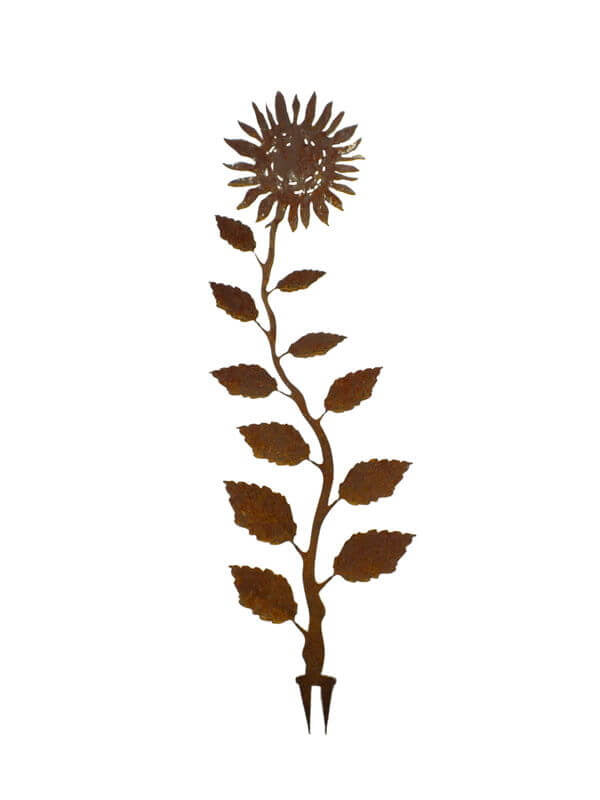 Sunflower Wedge Stake Garden Art - Outback Creative Gifts