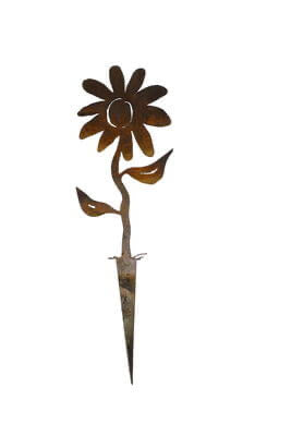 Flower Wedge Stake Garden Art - Outback Creative Gifts