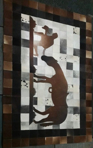 Cowhide rug - 'The Stockman' - Outback Creative Gifts