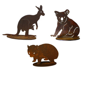 Aussie Icons Set Small Garden Art - Outback Creative Gifts