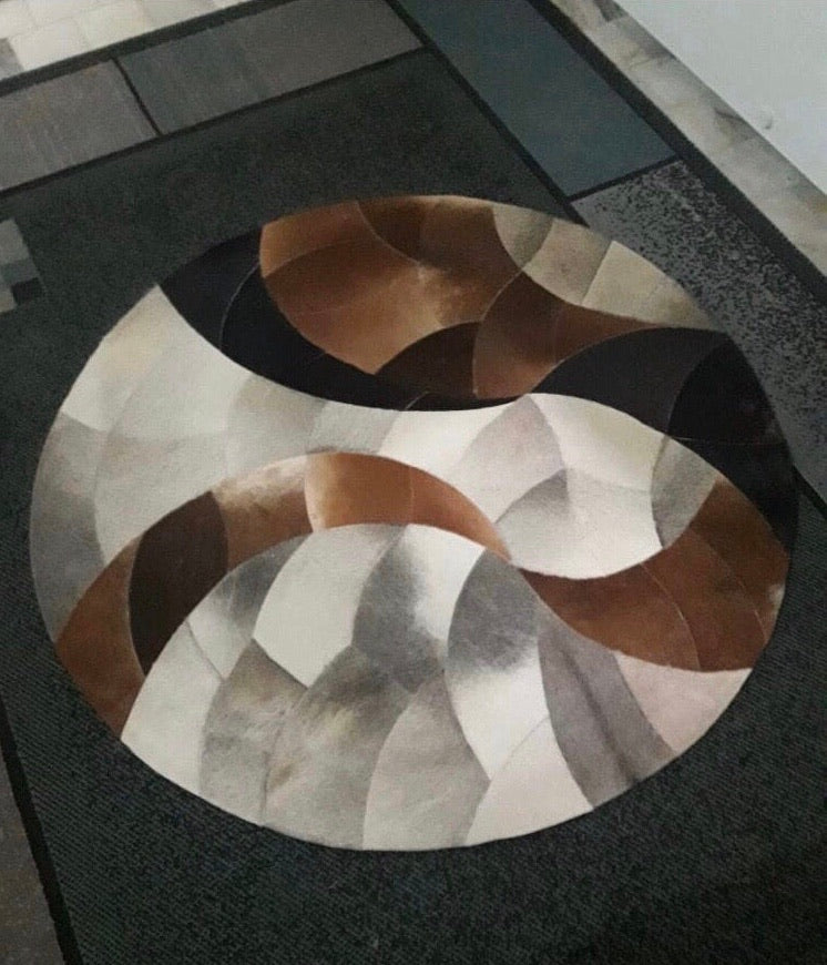 Cowhide rug - 'Spiral' - Outback Creative Gifts