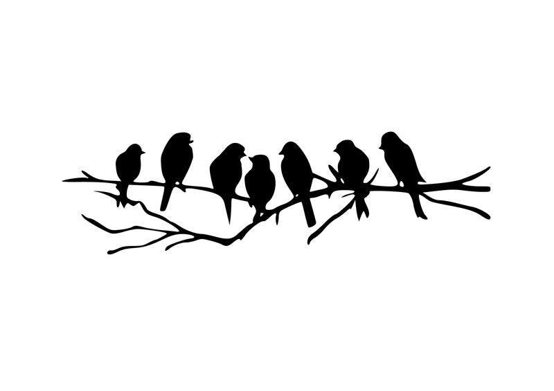 Seven Birds Wall Art in Black - Outback Creative Gifts