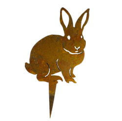 Small Rabbit Stake Garden Art - Outback Creative Gifts
