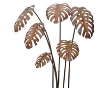 Load image into Gallery viewer, Monstera Garden Stake Set Metal Garden Art - Outback Creative Gifts