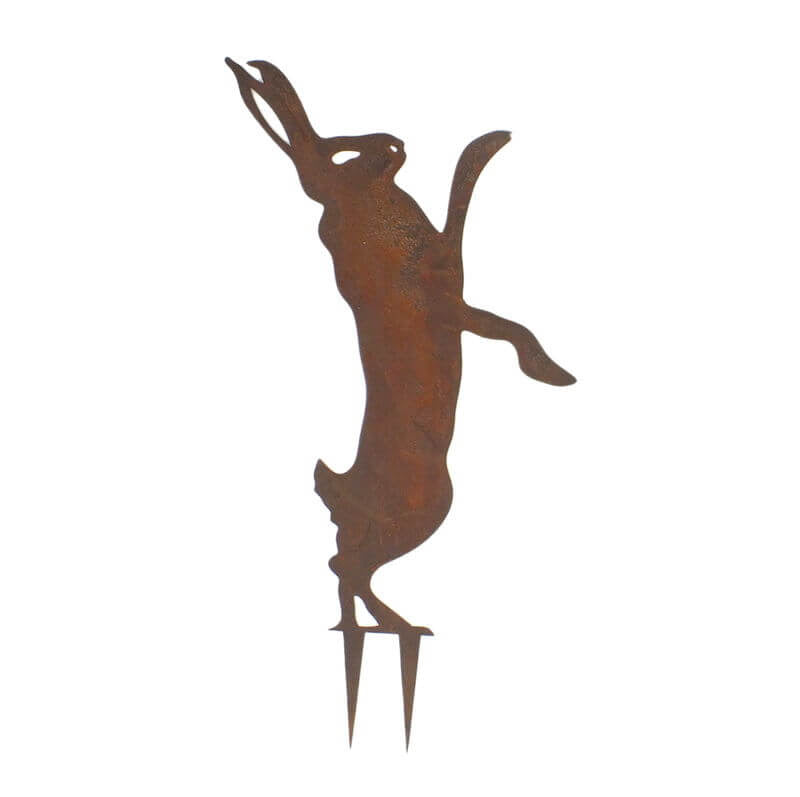 Dancing Hare Stake 2 Garden Art - Outback Creative Gifts