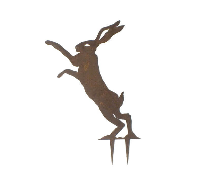 Dancing Hare Stake 1 Garden Art - Outback Creative Gifts