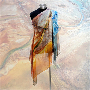 'Simpson Desert Rectangle Chiffon' Scarf - Outback Creative Gifts