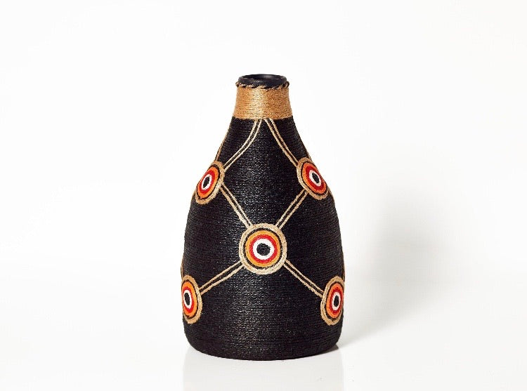 Ceramic Vase - Indigenous Design - Outback Creative Gifts