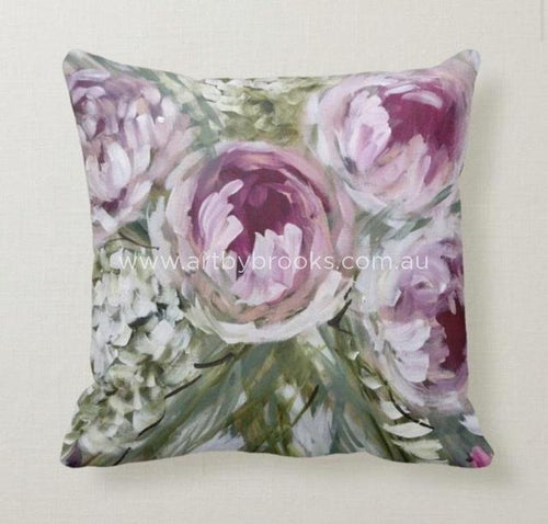 FRENCH PEONY - BESPOKE CUSHION - Outback Creative Gifts