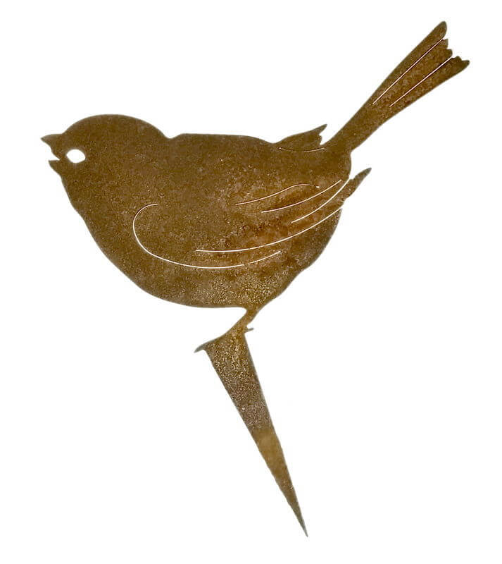 Sparrow Stake Garden Art - Outback Creative Gifts