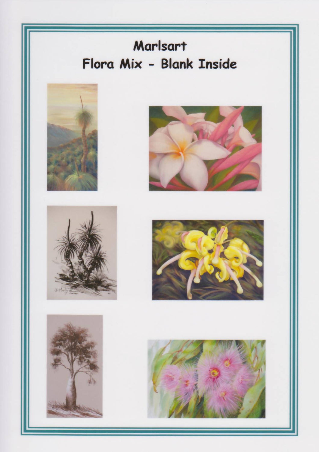 Blank Greeting Card Set - Flora - Outback Creative Gifts