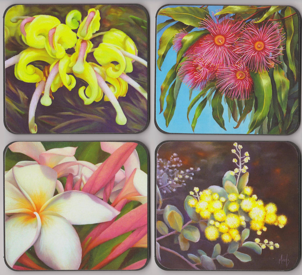 Set of 4 Coasters - Flora - Outback Creative Gifts