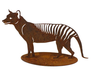 Tasmanian Tiger Stand Medium Garden Art - Outback Creative Gifts