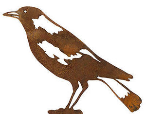 Magpie Wedge Stake Garden Art - Outback Creative Gifts