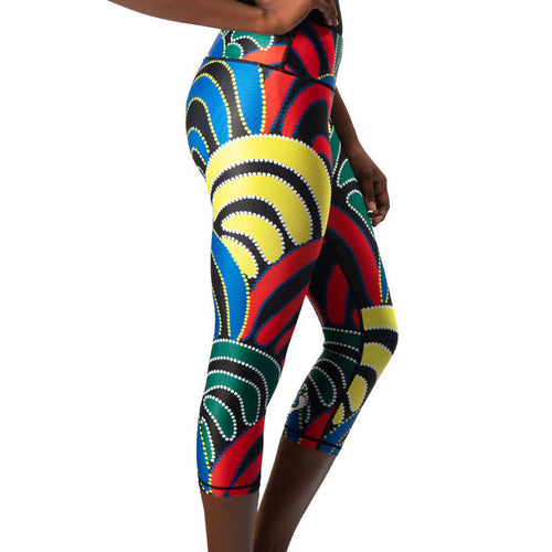Mound Springs Womens 3/4 Leggings - Outback Creative Gifts