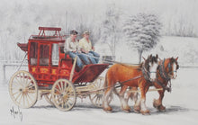 Load image into Gallery viewer, Matted Print - 'Heritage - Cobb & Co. III' - Outback Creative Gifts