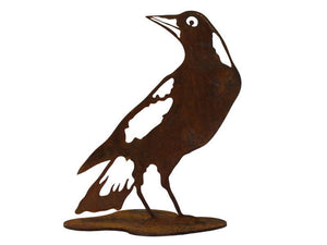 Magpie Stand 2 Garden Art - Outback Creative Gifts