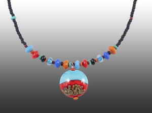 'Dingo Tracks On Big Red' Necklace - Outback Creative Gifts