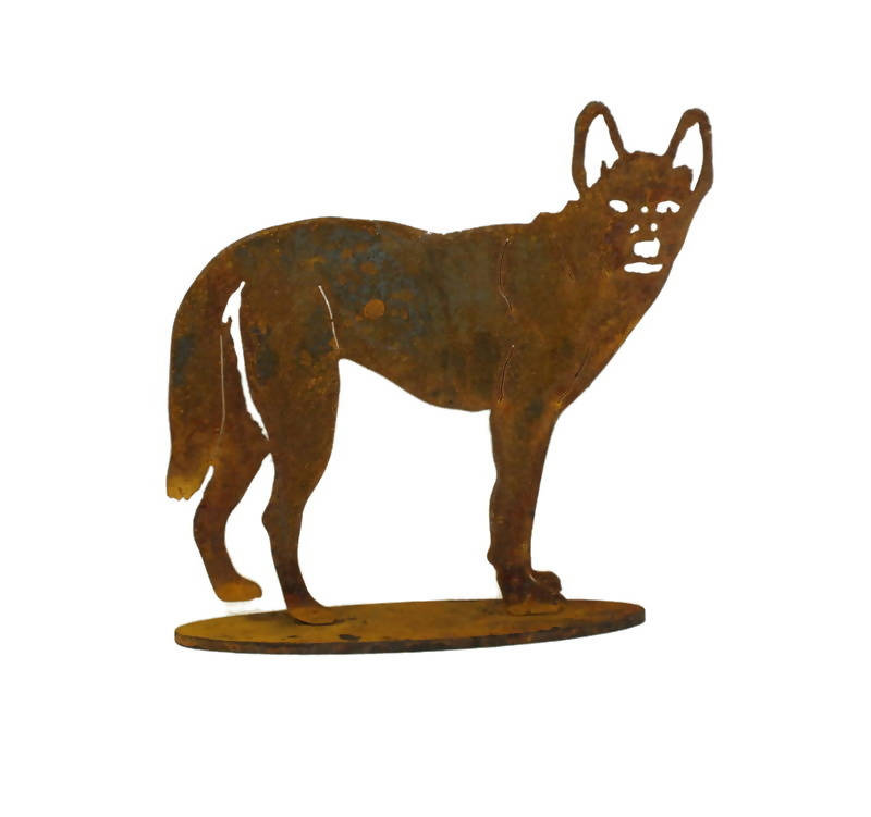 Standing Dingo Medium Stand Garden Art - Outback Creative Gifts